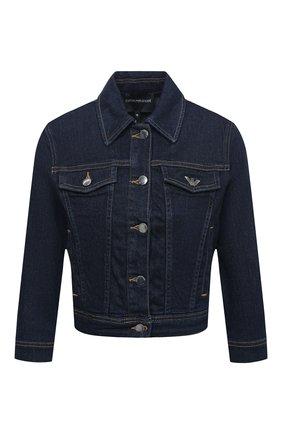 Женская джинсовая куртка EMPORIO ARMANI синего цвета, арт. 6H2B81/2D9WZ   Фото 1