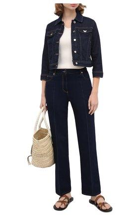 Женская джинсовая куртка EMPORIO ARMANI синего цвета, арт. 6H2B81/2D9WZ   Фото 2