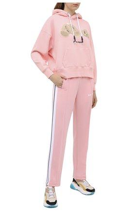 Женские брюки PALM ANGELS розового цвета, арт. PWCA035F20FAB0023001 | Фото 2