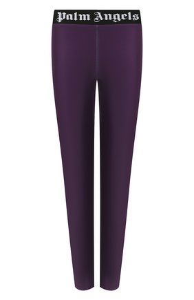 Женские леггинсы PALM ANGELS фиолетового цвета, арт. PWCD006F20FAB0013701 | Фото 1