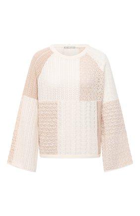 Женский пуловер из шерсти и хлопка ALICE + OLIVIA бежевого цвета, арт. CC006S10709   Фото 1