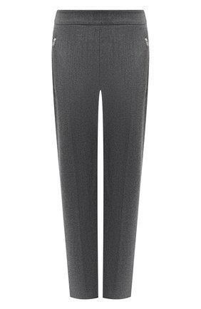 Женские шерстяные брюки STELLA MCCARTNEY серого цвета, арт. 601806/SNB53 | Фото 1 (Материал внешний: Шерсть; Женское Кросс-КТ: Брюки-одежда; Силуэт Ж (брюки и джинсы): Прямые; Стили: Кэжуэл)