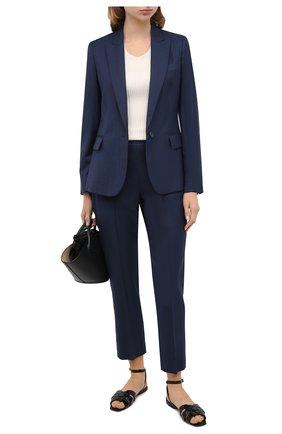 Женские шерстяные брюки STELLA MCCARTNEY темно-синего цвета, арт. 601806/SGB07 | Фото 2