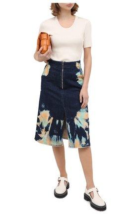 Женская джинсовая юбка STELLA MCCARTNEY темно-синего цвета, арт. 601787/S0H03 | Фото 2
