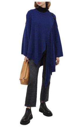 Женская шерстяное пончо STELLA MCCARTNEY синего цвета, арт. 601751/S2209 | Фото 2