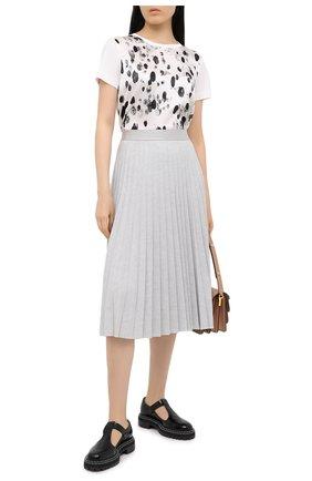Женская футболка из шелка и хлопка ESCADA черно-белого цвета, арт. 5034370 | Фото 2