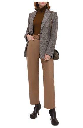 Женская шерстяная водолазка VERSACE темно-коричневого цвета, арт. A87619/A235892   Фото 2 (Материал внешний: Шерсть; Рукава: Длинные; Длина (для топов): Стандартные; Стили: Кэжуэл; Женское Кросс-КТ: Водолазка-одежда)