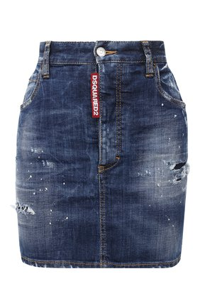 Женская джинсовая юбка DSQUARED2 синего цвета, арт. S80MA0005/S30342 | Фото 1