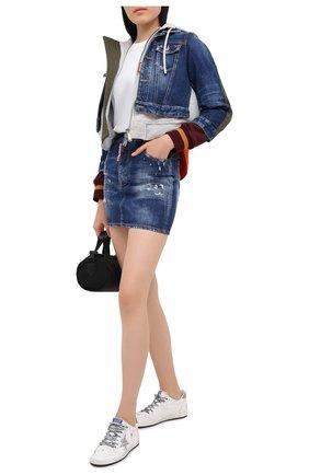 Женская джинсовая юбка DSQUARED2 синего цвета, арт. S80MA0005/S30342 | Фото 2