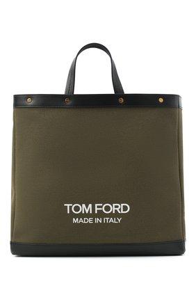 Женский сумка-шопер t screw TOM FORD хаки цвета, арт. L1406T-ICN001 | Фото 1