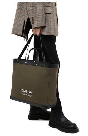 Женский сумка-шопер t screw TOM FORD хаки цвета, арт. L1406T-ICN001 | Фото 2