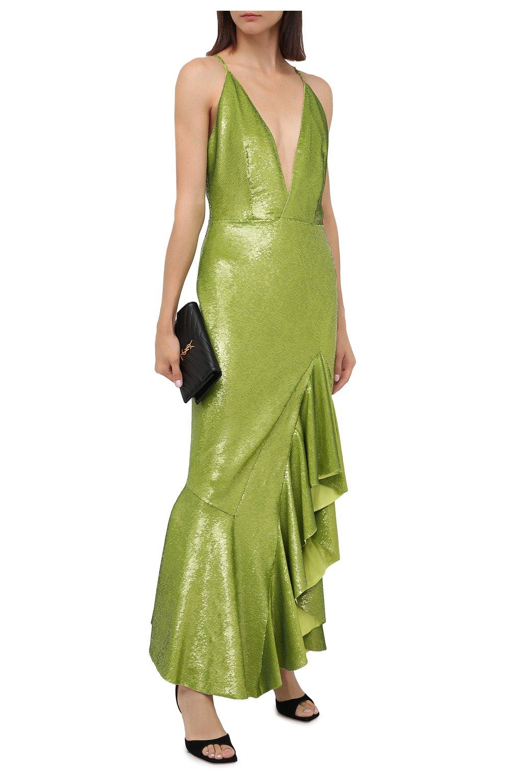 платье с пайетками зеленое купить
