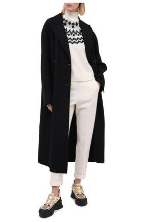 Женский свитер ERMANNO ERMANNO SCERVINO кремвого цвета, арт. 47T MG56 S0F | Фото 2