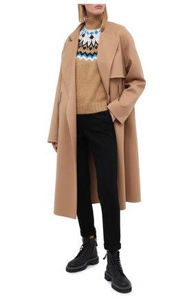 Женский свитер ERMANNO ERMANNO SCERVINO бежевого цвета, арт. 47T MG56 S0F | Фото 2