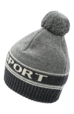 Женский шапка из шерсти и кашемира TAK.ORI серого цвета, арт. HTK72062WC030AW20 | Фото 2