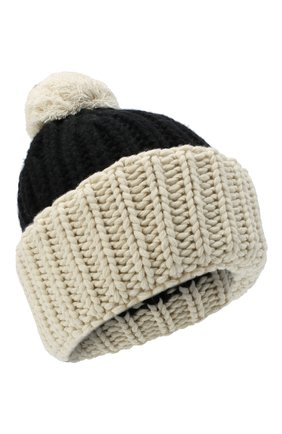 Женская шапка из шерсти и кашемира TAK.ORI черно-белого цвета, арт. HTK74063WS050AW20 | Фото 1 (Материал: Шерсть, Кашемир)
