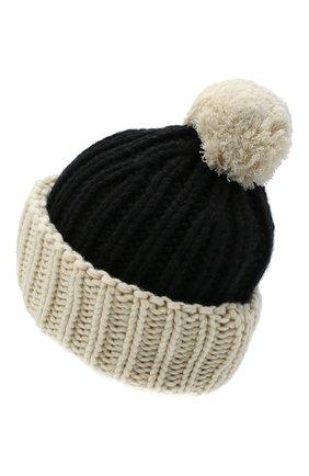 Женская шапка из шерсти и кашемира TAK.ORI черно-белого цвета, арт. HTK74063WS050AW20 | Фото 2 (Материал: Шерсть, Кашемир)