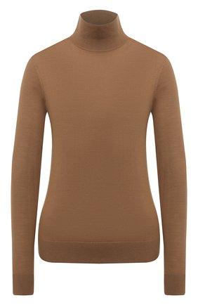 Женская шерстяная водолазка THEORY бежевого цвета, арт. I1211703 | Фото 1 (Материал внешний: Шерсть; Рукава: Длинные; Длина (для топов): Стандартные; Стили: Кэжуэл; Женское Кросс-КТ: Водолазка-одежда)