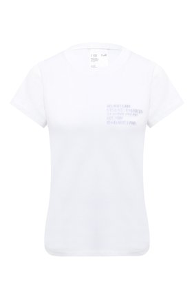 Женская хлопковая футболка HELMUT LANG белого цвета, арт. K06DW504 | Фото 1