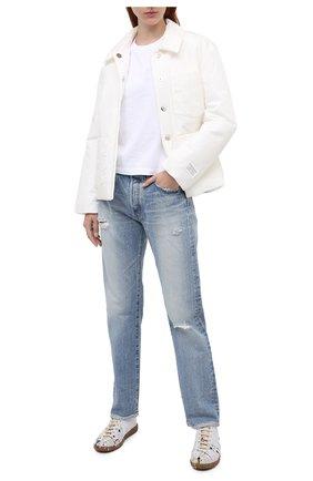 Женская хлопковая футболка HELMUT LANG белого цвета, арт. K06DW504 | Фото 2