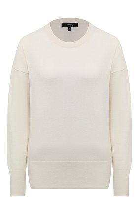 Женский кашемировый пуловер THEORY белого цвета, арт. K0718728 | Фото 1