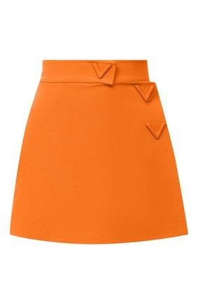 Женская юбка-шорты VALENTINO оранжевого цвета, арт. UB3RA6N01CF | Фото 1