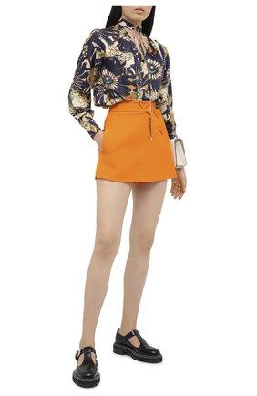 Женская юбка-шорты VALENTINO оранжевого цвета, арт. UB3RA6N01CF | Фото 2