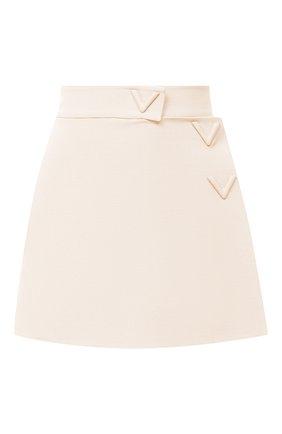 Женская юбка-шорты VALENTINO кремвого цвета, арт. UB3RA6N01CF | Фото 1