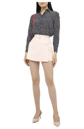 Женская юбка-шорты VALENTINO кремвого цвета, арт. UB3RA6N01CF | Фото 2