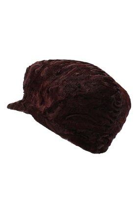 Женская кепка из каракульчи клара FURLAND бордового цвета, арт. 0129707810048200000 | Фото 2