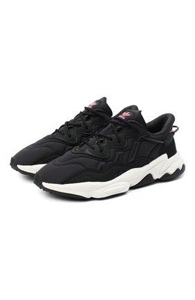 Мужские комбинированный кроссовки ozweego ADIDAS ORIGINALS черно-белого цвета, арт. FV9668 | Фото 1
