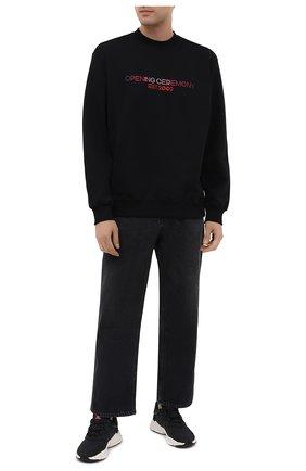Мужские комбинированный кроссовки ozweego ADIDAS ORIGINALS черно-белого цвета, арт. FV9668 | Фото 2