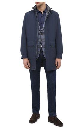 Мужская хлопковая рубашка ERMENEGILDO ZEGNA темно-синего цвета, арт. UVX07/SAF2 | Фото 2