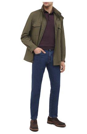 Мужское поло из кашемира и шелка ERMENEGILDO ZEGNA фиолетового цвета, арт. UVJ00/132 | Фото 2