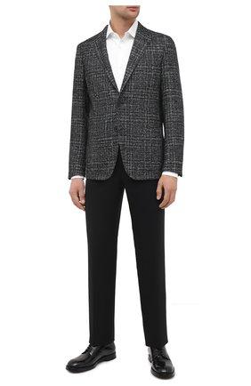 Пиджак из шерсти и шелка | Фото №2