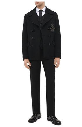 Мужской шерстяной жилет DOLCE & GABBANA черного цвета, арт. G705XT/FRRDK | Фото 2