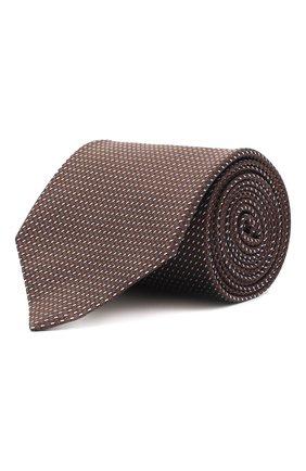 Мужской шелковый галстук BRIONI темно-коричневого цвета, арт. 062H00/0943U | Фото 1