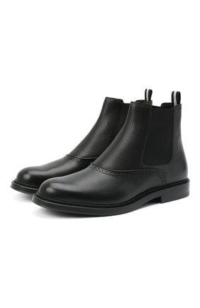 Мужские кожаные челси nibes BALLY черного цвета, арт. NIBES-FUR/110 | Фото 1