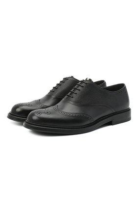 Мужские кожаные оксфорды nixor BALLY черного цвета, арт. NIX0R/110 | Фото 1