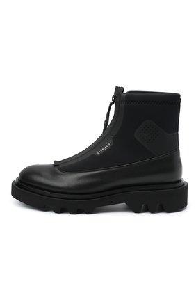 Мужские комбинированные ботинки combat GIVENCHY черного цвета, арт. BH601ZH0NN | Фото 3