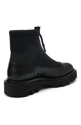 Мужские комбинированные ботинки combat GIVENCHY черного цвета, арт. BH601ZH0NN | Фото 4
