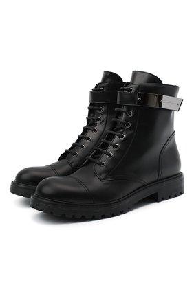 Мужские кожаные ботинки GIUSEPPE ZANOTTI DESIGN черного цвета, арт. IU00003/001 | Фото 1