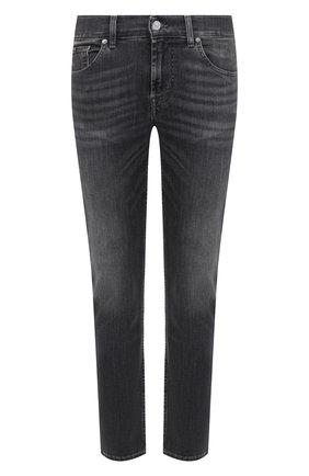 Мужские джинсы 7 FOR ALL MANKIND серого цвета, арт. JSMXR73EPE | Фото 1