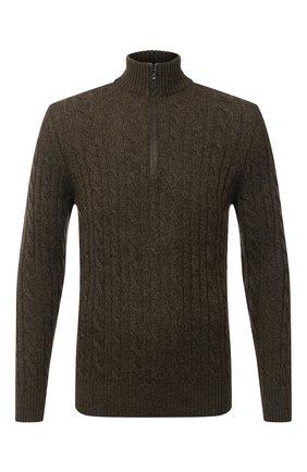 Мужской кашемировый свитер LORO PIANA хаки цвета, арт. FAD7358   Фото 1
