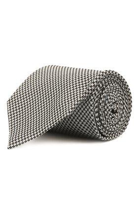 Мужской шелковый галстук TOM FORD серого цвета, арт. 8TF16/XTF | Фото 1 (Материал: Текстиль; Принт: С принтом)