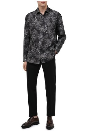 Мужской кожаные дерби BERLUTI темно-коричневого цвета, арт. S5113-001 | Фото 2