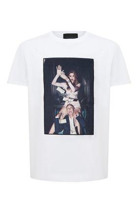 Мужская хлопковая футболка LIMITATO белого цвета, арт. BE CAREFUL/T-SHIRT | Фото 1