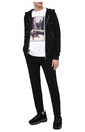 Мужской хлопковые брюки LIMITATO черного цвета, арт. 0SCAR/PANT | Фото 2