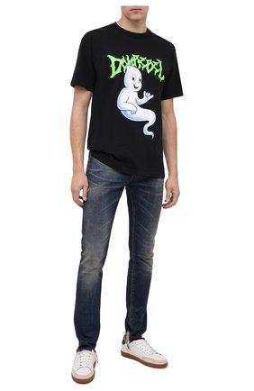 Мужская хлопковая футболка DOM REBEL черного цвета, арт. GH0ST/B0X T-SHIRT | Фото 2
