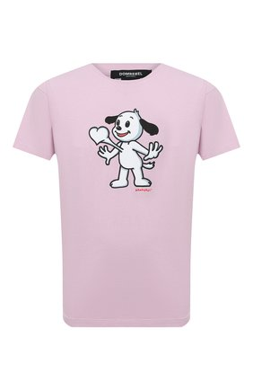 Мужская хлопковая футболка DOM REBEL розового цвета, арт. HEARTBEAT/B0X T-SHIRT | Фото 1